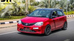 Modified Toyota Etios Liva with 211 hp on tap, because why not? [Video]