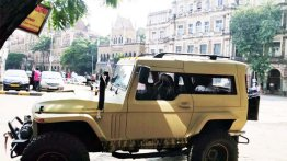 Mahindra Thar Wanderlust spotted on the road for the first time