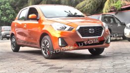 2018 Datsun GO spotted in the Amber Orange, pre-bookings open