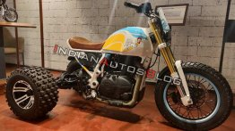 Wacky three-wheeled Royal Enfield Himalayan is 'The Rooster Trike'