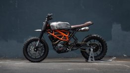 KTM 390 Duke transformed into a scrambler style machine