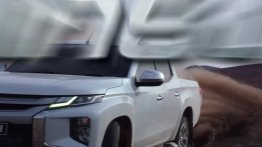 2019 Mitsubishi Triton (facelift)'s front-end partially revealed in a teaser [Video]