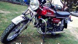 Restored 1984 Yamaha RD350 gets front disc brake setup from Bajaj Avenger and TVS Apache