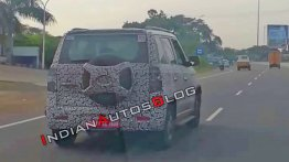 Reader snags the 2019 Mahindra TUV300 (facelift) testing, Launch by 1 April 2019
