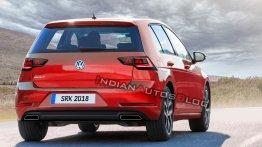 Next-gen 2019 VW Golf imagined - IAB Rendering