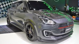 Mineral Grey Metallic Custom Suzuki Swift at 2018 Thai Motor Expo - Live