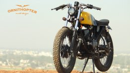 Modified Yamaha RX100 by Ornithopter is a Scrambler-Cafe Racer