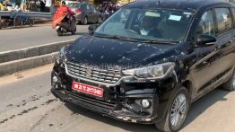 Rumoured Maruti Ertiga 1.5 diesel with 6-speed MT spotted on test