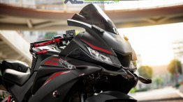 Accessorised Yamaha YZF-R15 V3.0 sports MotoGP style windshield, Akrapovic exhaust