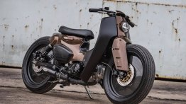 Honda Super Cub modified into a cafe-scrambler 'K-Storm' by K-Speed Customs