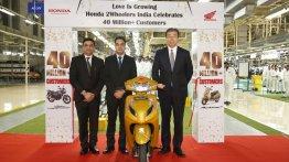 Honda 2Wheelers crosses the 4 crore sales milestone; scooters take up 2.5 crore units