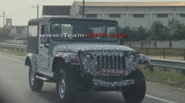 Next-gen 2020 Mahindra Thar's front-end spied for the first time