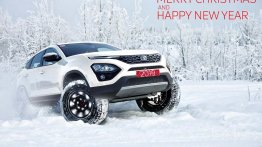 'Orcus White' Tata Harrier from Pratap Bose' Christmas card looks great