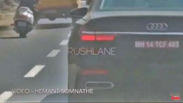 2019 Audi A6 spied testing in Pune [Video]