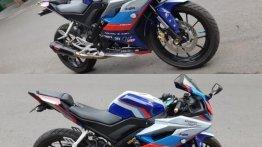 Yamaha R15 V3 gets BMW MotoGP safety bike inspired decals