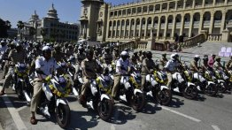 TVS Apache RTR 160 motorcycles added to Bangalore Police's fleet