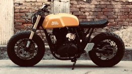 Modified Royal Enfield Continental GT gets a dose of steroids