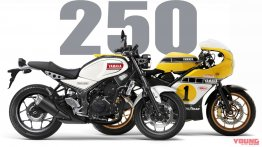 Retro-style Yamaha XSR250 render by YoungMachine