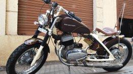 Yezdi 250 transformed into a bobber by Indi Custom Garage
