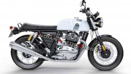 RE Interceptor 650 improvised with the Continental 650's fuel tank