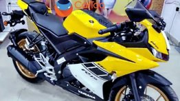 Yamaha R15 v3.0 spied with a new yellow colour scheme
