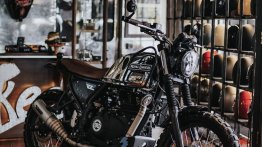 Royal Enfield Himalayan turned into a scrambler by Smoked Garage Indonesia