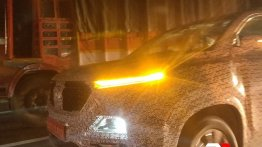 MG Hector with twin headlights spotted on test in Mumbai [Update]