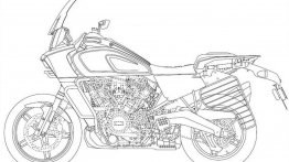 Leaked design patents show future Harley-Davidson models with saree guard