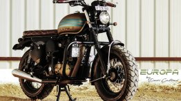 Eimor Customs reveals modified Royal Enfield Desert Storm 500 called Europa
