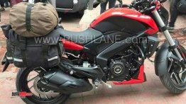 2019 Bajaj Dominar 400 spied with saddle bags; India launch next month