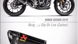 Honda CB300R gets Akrapovic carbon-fibre exhaust