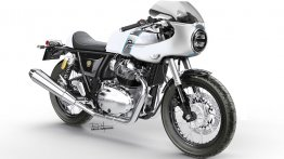 Royal Enfield Continental GT 650 rendered with LED & Cafe Racer fairing