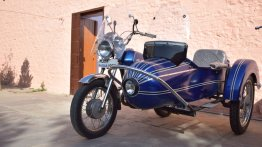Restored Yezdi Classic 175 with custom sidecar reminds of the retro times