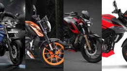 Yamaha MT-15 Vs KTM 125 Duke Vs 200 Duke Vs TVS Apache RTR 200 4V Vs Bajaj Pulsar NS200 - Spec Comparo