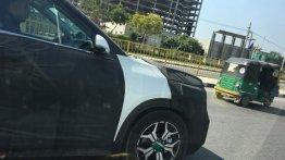 Kia SP2i spied on test, shows its alloy wheel design