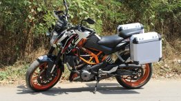 Sahyadri Moto create pannier compatible saddle stays for pre-2017 KTM 390 Duke