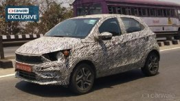 New Tata Tiago (facelift) spied again, likely to get Altroz-inspired styling