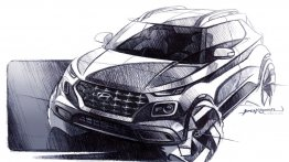 Hyundai Venue design previewed in sketches