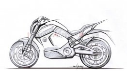 Revolt Intellicorp reveals the design sketch of its electric motorcycle