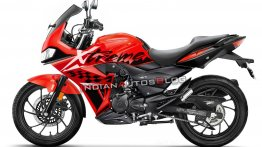 Fully-faired Hero Xtreme 200R - IAB Rendering