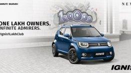 Maruti Suzuki Ignis ने छुआ 1 लाख यूनिट बिक्री का आंकड़ा