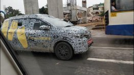Renault Triber (Renault RBC) spied on test yet again