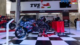 Special edition TVS Apache RR 310 displayed at Feria 2 Ruedas [Video]