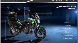 Autologue touring accessories for 2019 Bajaj Dominar 400 available for pre-order