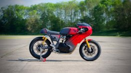 Modified Royal Enfield Continental GT 650 is race-ready