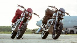 Two modified Royal Enfield Interceptor INT 650 are ready for Great Malle Rally