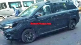 Maruti Suzuki Ertiga Cross spied for the first time