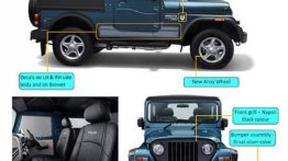 Mahindra Thar Signature Edition styling, features and specs leaked