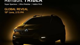 Renault Triber exterior teased, to be unveiled on 19 June