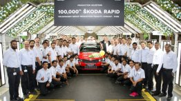 Skoda Rapid marks 1 lakh production milestone in India